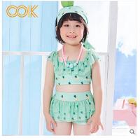 儿童游泳衣女童女孩泳装公主比基尼宝宝分体裙式小中大童泳裤