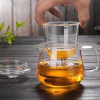 征伐 茶壶 功夫茶具玻璃茶壶加厚耐热泡茶壶过滤花茶壶红茶器水壶 花茶壶 500ml