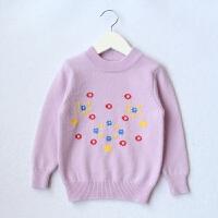 秋新款半高领宝宝加厚毛衣纯色中大童套头儿童羊毛衫女童羊绒衫