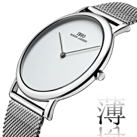 超薄钢带防水潮流时尚手表男 简约网带男士石英表 创意男腕表