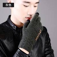 手套男士韩版冬季加绒保暖防风加厚五指分指冬天骑车开车触屏手