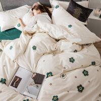 床上四件套全棉纯棉床单被套小清新宿舍床上三件套家纺夏季