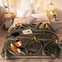 君别毛毯/毯子加厚保暖冬季珊瑚绒毛毯被子法兰绒床单人拉舍尔毯子