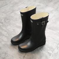 四季子款儿童雨靴中筒雨鞋女生中大童学生雨靴女童防滑公主水鞋