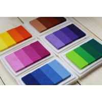 一口价3盒 韩国文具 渐变色印台4色 多彩彩色印泥 DIY印章伴侣婚礼