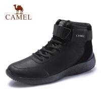camel骆驼男鞋 秋冬新款时尚复古工装靴真皮轻质厚底英伦马丁靴