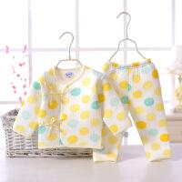新款春秋婴幼儿童彩棉三层保暖套装宝宝内衣内裤套