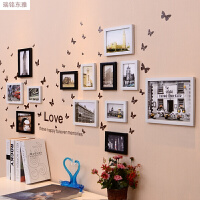 照片墙相框墙一面墙简约墙上相框挂墙创意个性组合装饰相片墙贴纸Q D款 黑白欧式建筑13Q