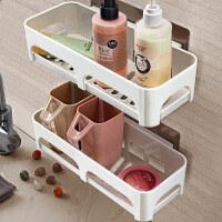 厨房用品收纳架壁挂储物架免打孔浴室洗漱台置物架墙上置物卫生间