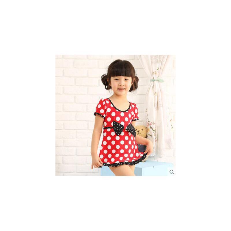 甜美可爱波点女童泳衣儿童泳衣连体泳装女孩宝宝游泳衣 品质保证,支持货到付款 ,售后无忧