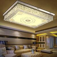 客厅灯 水晶灯 长方形客厅大灯长方形水晶灯大气家装新款超亮LED吸顶灯具简约现代