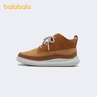 【3件4.5折:81】巴拉巴拉儿童皮鞋男黑色英伦校园鞋复古耐磨春秋鞋子