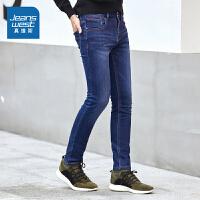 真维斯牛仔裤男 冬装男装弹力青年长裤冬季韩版修身裤子