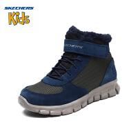 【限时价格:199元】斯凯奇Skechers 男女童鞋轻便舒适户外鞋 魔术贴保暖冬靴时尚雪地靴660013L