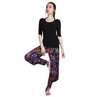 [当当自营]皮尔瑜伽(pieryoga)2018新款瑜伽服套装女 跑步运动健身服修身显瘦两件套 81425黑色短袖+6