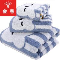 金号专柜正品纯棉三件套毛巾浴巾方巾组合套装S1131+S3131+S6131柔软吸水