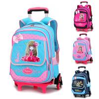 开学季书包z韩版时尚小学生拉杆书包年级女儿童双肩包六轮爬楼梯背包三轮车