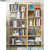 实木书架落地多层置物架简约现代创意组合书架省空间
