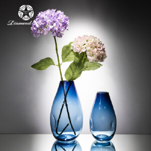 北欧玻璃花瓶简约现代创意透明摆件水培富贵竹家居饰品