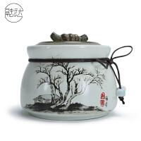 茶叶罐陶瓷家用小号陶瓷茶叶罐密封罐家用存茶罐储存罐瓷罐绿茶红茶普洱储茶罐定制