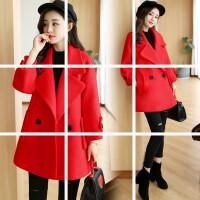 新款女装秋冬季韩版毛呢外套矮个子中长款韩国妮子呢子大衣潮