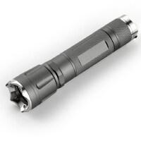 强光手电筒 可充电远射LED手电筒带攻击头 防狼爆闪手电