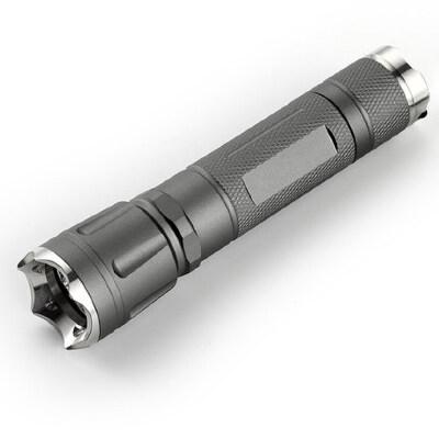 强光手电筒 可充电远射LED手电筒带攻击头  爆闪手电 品质保证 售后无忧 支持货到付款