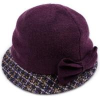 帽子女秋冬贝雷帽优蝴蝶结小礼帽优雅羊毛呢帽渔夫帽盆帽