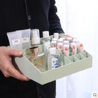 收纳盒透明塑料桌面整理盒梳妆台收纳架化妆盒护肤品置物架