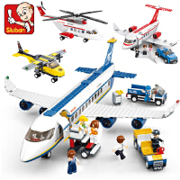 兼容乐高小鲁班空中巴士飞机航空客机拼装积木儿童益智玩具6-10岁