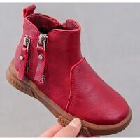 儿童靴子女童短靴2018秋季新款马丁靴秋冬学生男加绒靴中大童鞋女