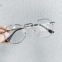 2018新款金属框架平光镜男士防护目辐射眼镜日系复古青年情侣圆框眼镜