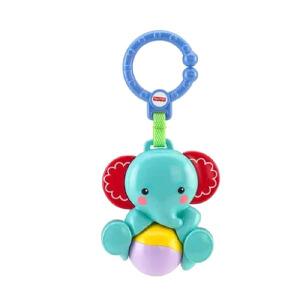 费雪小象摇铃玩具CBK74婴幼儿童宝宝益智手拍摇铃fisher0-1岁