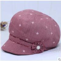 中老年人帽子女鸭舌帽薄款贝雷帽老人帽子奶奶布帽妈妈帽优雅