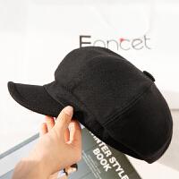 帽子女冬天时尚韩版潮春秋百搭英伦贝雷帽羊毛呢八角帽日系休闲鸭舌帽