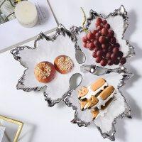 水现代简约欧式创意现代家用陶瓷实用摆件干果茶几摆件三件套