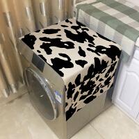 滚筒洗衣机罩盖巾 英伦条纹格子床头柜盖布单冰箱罩家用防尘布 55CM*140CM
