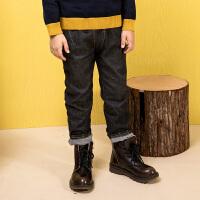 【12月9日开抢 3件3折价:77】水孩儿souhait童装秋装新款男童牛仔裤AMD0835543