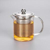 征伐 茶壶 功夫茶具玻璃茶壶加厚耐热泡茶壶不锈钢304 过滤花茶壶红茶器水壶 花茶壶 350ml