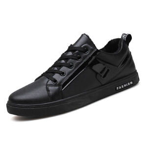 新款板鞋男运动休闲鞋加绒男鞋保暖棉鞋子男韩版潮流冬季潮鞋
