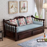 20190402211929226实木沙发床可折叠客厅小户型1.58米单双人多功能欧式推拉坐卧两用 2米以上