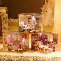 创意diy小屋手工拼装房子女孩生日礼物浪漫惊喜实用送女友闺蜜