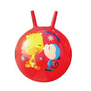 【当当自营】Fisher Price 费雪 40cm手柄加厚羊角跳跳球充气球幼儿园儿童户外玩具球跳跳球(送脚泵) F0704红色