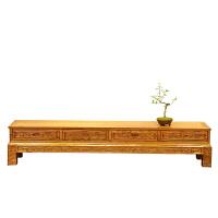明清中式古典仿古家具四斗电视柜实木榆木地柜矮柜置物电视柜 整装