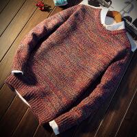 秋冬季男士毛衣男韩版宽松针织衫青少年圆领外套加厚打底衫潮流