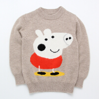 秋新款儿童羊绒衫男童加厚卡通童装宝宝毛衣中小童羊毛针织衫女