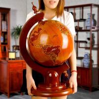 地球仪摆件 实木地球仪 办公室摆件 毕业礼物送学校 乔迁新居礼品