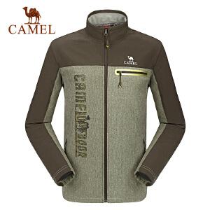 camel骆驼户外软壳衣 男士防风保暖耐磨软壳衣