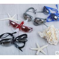 户外泳镜 专业游泳眼镜大框高清电镀膜防雾耐磨 男女儿童通用