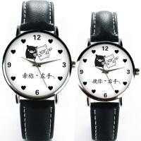 情侣手表刻字定制一对韩版学生潮流创意大表盘简约腕表送生日礼物